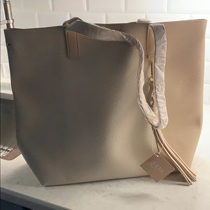 Large New Tan Tote Bag